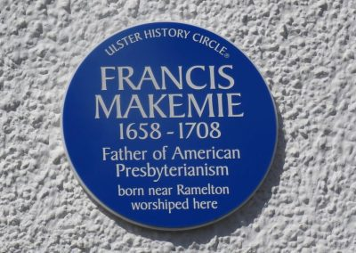 Plaque to Francis Makemie, Ramelton, Co. Donegal